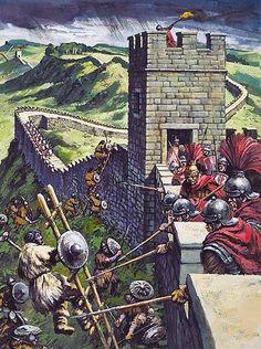 """""""Legionari romani respingono l'assalto dei barbari dal Vallo di Adriano"""""""