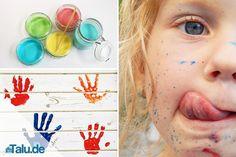 Fingermalfarbe ist ungiftig und blitzschnell selbst gemacht. Die Zutaten haben Sie daheim. Diese drei Rezepte sollten Sie unbedingt ausprobieren. Have Some Fun, Kids And Parenting, 2nd Birthday, Diy And Crafts, Alice, Creative, Lotta, Tricks, Mousse
