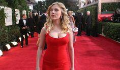 スカーレット ・ ヨハンソン レッド カーペットと赤いドレス