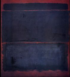Indigo on burgundy painting. Mark Rothko knew his craft.