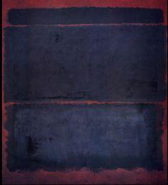 Indigo on burgundy painting. Mark Rothko knew his craft.