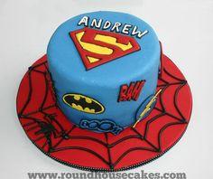 Super hero cake, I like the age in the superman logo. Superman Birthday, 5th Birthday, Birthday Parties, Birthday Cakes, Birthday Ideas, Birthday Stuff, Marvel Cake, Superman Logo, Batman