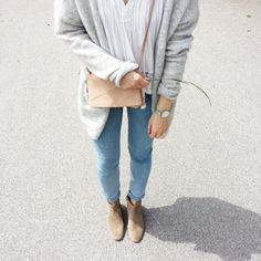 tifmys - Mango blouse, H&M cardi, Cheap Monday jeans, Yerse bag, Rosefield watch & Isabel Marant Dicker boots.