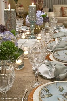 Absolutely gorgeous Springtime Seder tablescape
