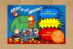 Here is my latest Cute Avengers birthday theme found on my invitations.  http://ift.tt/1MqVchf  #superherobirthdayparty  #superherobirthday  #cuteavengers  #babyavengers  #avengersbirthday  #avengersbirthdayparty  #dotcamom