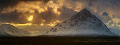 Winter sun over Glen Etive by Damian Shields on 500px