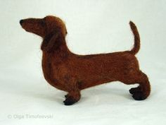 dachshund needle felted - Google Search