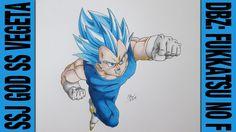 Drawing Time Lapse: SSJ God SS Vegeta (DBZ: Fukkatsu no F / Resurrection...