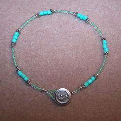 Robin Egg Colored Beaded Anklet by HeartandSoulbyDeb on Etsy, $13.00