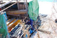 漁師小屋。