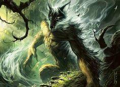 Wolfir Silverheart art by Raymond Swanland