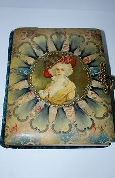 Antique Late 1800's Victorian Lady Velvet Celluloid Photo Album