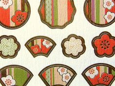 Japanese Chiyogami Stickers Plum Blossoms S25