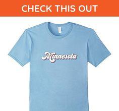 Mens Retro Minnesota T Shirt Vintage 70s Seventies Tee Design Large Baby Blue - Retro shirts (*Amazon Partner-Link)
