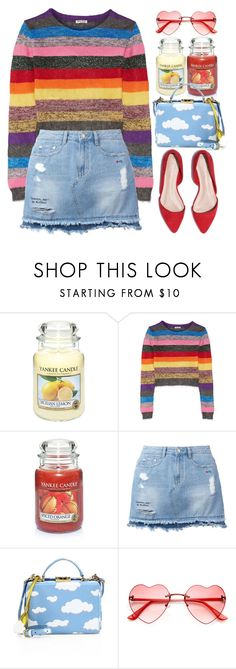 """""""piece and love"""" by grodell on Polyvore featuring Yankee Candle, Miu Miu, Steve J & Yoni P and Mark Cross"""