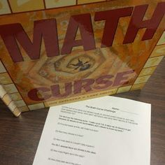 Middle School Math Man: The Math Curse! Plus free activity Math Teacher, Math Classroom, Teaching Math, Classroom Ideas, Teaching Ideas, Teaching Tools, Teacher Stuff, Future Classroom, Teaching Supplies