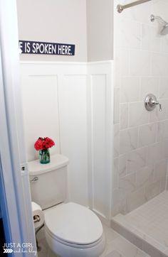 Our DIY Master Bathroom | JustAGirlAndHerBlog.com