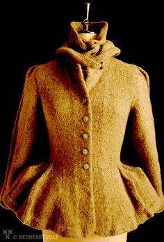 Orson handknitted jacket     © Copyright redheart.net