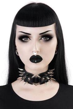 Anastasia Choker - One Size / Edgy Makeup, Gothic Makeup, Grunge Makeup, Dark Makeup, Grunge Hair, Simple Makeup, Makeup Inspo, Makeup Inspiration, Fantasy Makeup