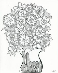 Coloring Flower and Colouring pages on Pinterest