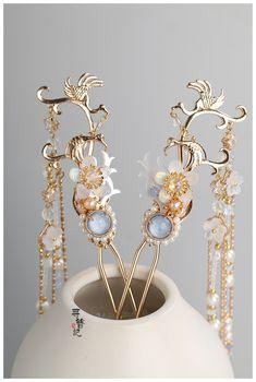 Bride Hair Accessories, Fashion Accessories, Fashion Jewelry, Headpiece Jewelry, Hair Jewelry, Asian Hair Ornaments, Magical Jewelry, Fantasy Jewelry, Hair Pins