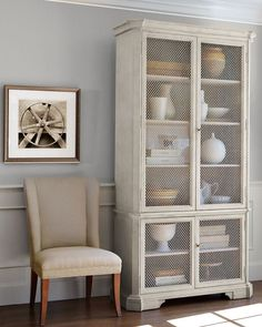 Well no williams sonoma in Australia but I am on the lookout for something like this for my dining room.  Thinking a real vintage one though :)  #storage #cabinet