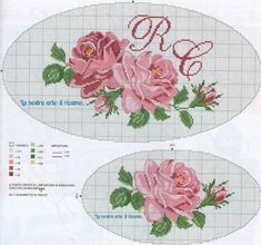This Pin was discovered by Bon Cute Cross Stitch, Cross Stitch Rose, Cross Stitch Flowers, Cross Stitch Charts, Cross Stitch Designs, Cross Stitch Patterns, Cross Stitching, Cross Stitch Embroidery, Hand Embroidery