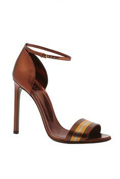 Gucci very elegant brown Sandal Resort 2014 #Shoes #Gucci #High #Heels
