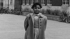 Linda Brown, black girl refused admission to white elementary school in front of segregated Monroe Elementary School which she attends. (Photo by Carl Iwasaki/The LIFE Images Collection/Getty Images) Supreme Court Cases, Race In America, Independent Women, Women In History, Black History Month, Michelle Obama, Life Images, Image Collection, Elementary Schools