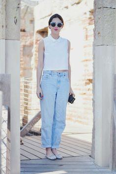 normcore jeans + top