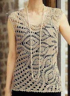 Katia Ribeiro Moda   Decoração Handmade  Blusas em Crochê Tops De Crochê d553f4e9da6