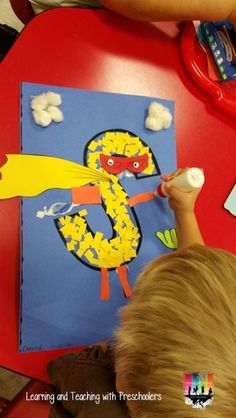 """""""Super S"""" Craft (from Learning & Teaching With Preschoolers)"""