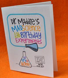Mad Science Birthday - Printable Experiment Book Party Favor