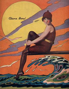 The Art of Being Wavy ☆ Clara Bow ☆ From the cover of El Universal Ilustrado October 11, 1923 ☆ Artist Unknown ☆