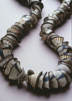 Necklace | Tory Hughes. Polymer