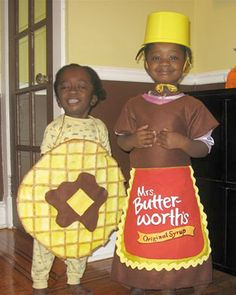 Waffle and Mrs. Butterworth's. This is the most adorable thing I've ever seen.