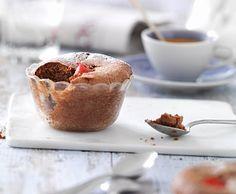 Kirschen-Schokoladen-Chüechli Chocolate Cherry, Summer Recipes, Quiche, Muffin, Good Food, Pudding, Breakfast, Desserts, Cherries