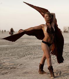 Burning man costume fashion