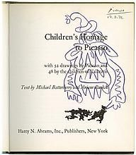 1971 PABLO PICASSO SIGNED BOOK, WITH SKETCH ON TITLE PAGE