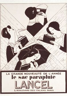 Purse Umbrella Advertise L'Illustration, Vintage Beauty, Vintage Fashion, Beauty Ad, Retro Advertising, Roaring Twenties, The New Yorker, Illustrations, Vintage Ads, Art Deco Fashion