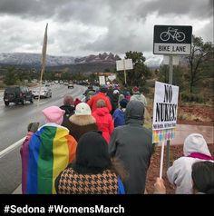 2017 Women's March in Sedona, Arizona, USA.