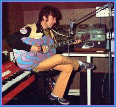 John recording in his Kenwood home studio, 1967