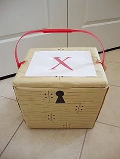 pirate treasure chest with goodie bags