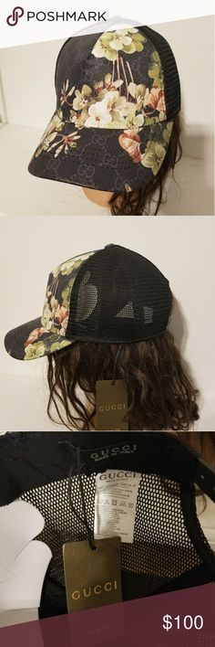 4fa7b6c6 Gucci floral hat New gucci floral hat with adjustable strap. Gucci  Accessories Hats Gucci Hat