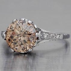 Amazing Edwardian style champaign diamond