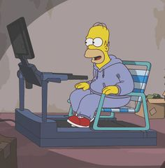 tv homer simpson the simpsons fashion tv show Homer Simpson, Lisa Simpson, Futurama, The Simpsons, Gif Animé, Animated Gif, Gym Memes, Funny Memes, Hilarious Quotes