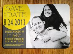 Modern Save the Date Magnet  customize your magnet by KADdesignsforlove, $1.75