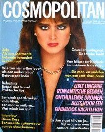 Brooke Shields covers Cosmopolitan magazine (Netherlands edition), February 1986.