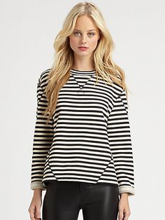 Marc by Marc Jacobs - Ben Striped Terry Knit Top - Saks.com