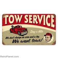 Tow Service Tin Sign